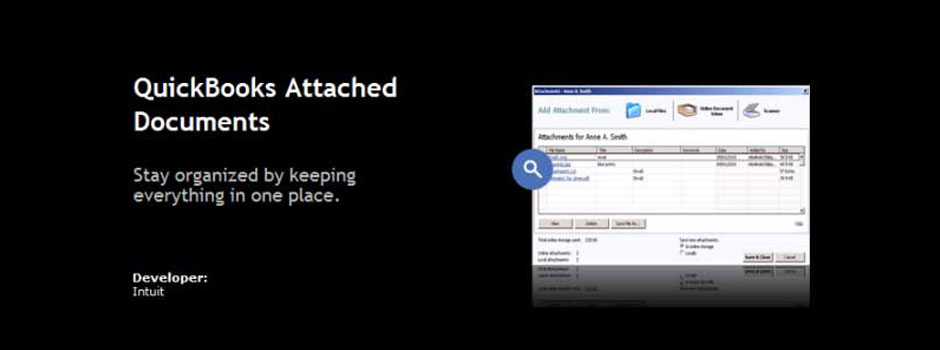 QuickBooks Attached Documents