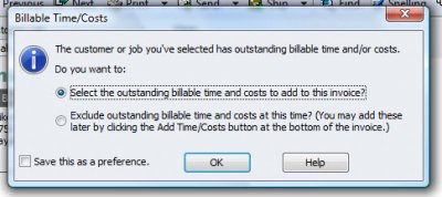 QuickBooks Premier 2009 Billable Time