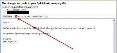 QuickBooks Accountants Copy Client Email
