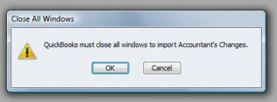 QuickBooks Accountants Copy Incorporate Changes Close All