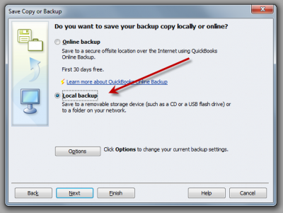 QuickBooks Enterprise Solutions 10 Save Backup