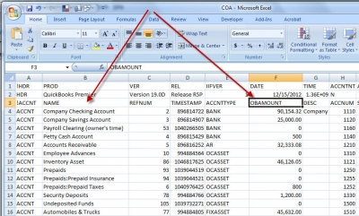Excel Chart of Accounts OBAMOUNT