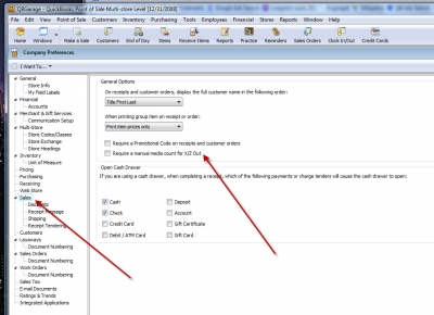 POS 8 Company Preferences Require Manual Media Count