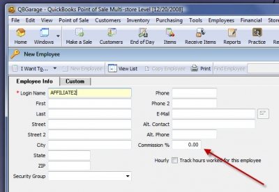 QuickBooks Point of Sale Employees New 2