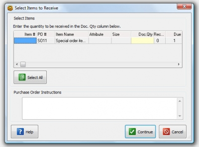 QuickBooks POS 8 New Receiving Voucher Sales Order 2