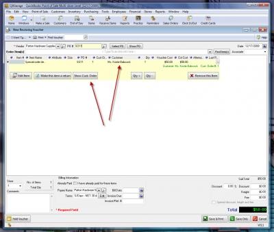 QuickBooks POS 8 New Receiving Voucher Sales Order 3