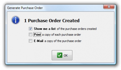 QuickBooks POS 8 Sales Order Generate Purchase Order 3