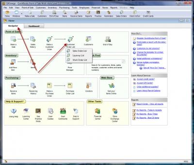 QuickBooks POS 8 Sales Order Make Sale Navigator