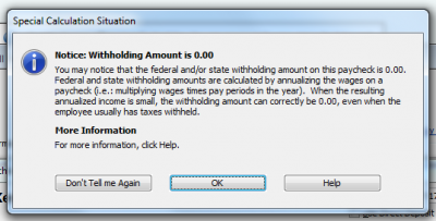 QuickBooks 2010 Special Calculation Situation