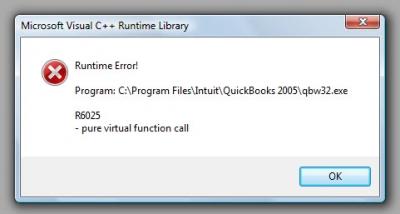 QuickBooks Premier 2007 Error Code R6025