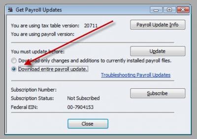 QuickBooks Premier 2008 Get Payroll Updates