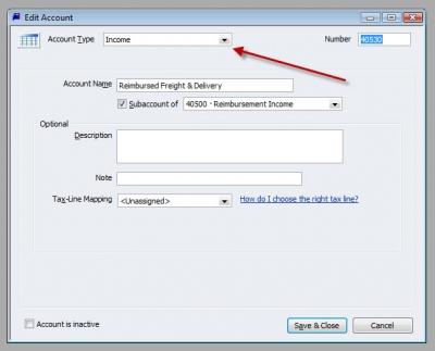 QuickBooks Premier 2009 GL Edit Account Reimbursed