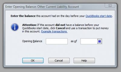 QuickBooks Premier 2009 GL Enter Opening Balance