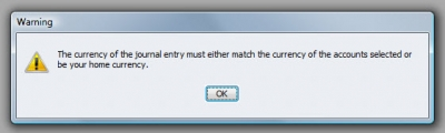 QuickBooks Premier 2009 General Ledger Warning 6