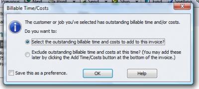 QuickBooks Premier 2009 Billable Time