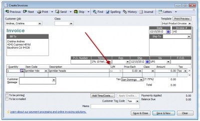 QuickBooks Premier 2009 Create Invoices Unit of Measure Single Unit