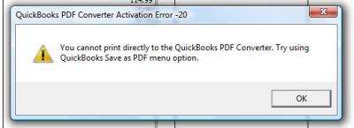 QuickBooks Premier 2009 Error Code -20
