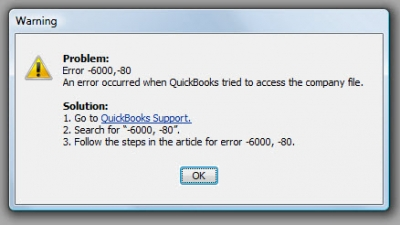 QuickBooks Premier 2009 Error Code -6000 -80