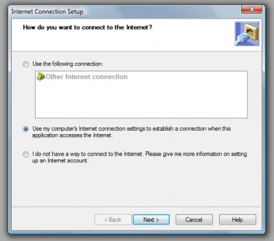 QuickBooks Premier 2009 Internet Connection Setup