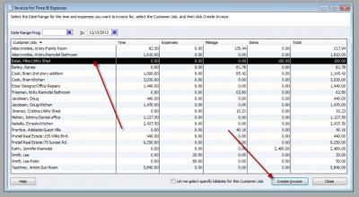 QuickBooks Premier 2009 Invoice for Time & Expenses 1
