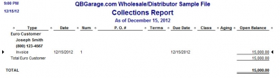 QuickBooks Premier 2009 Multicurrency Collections Report
