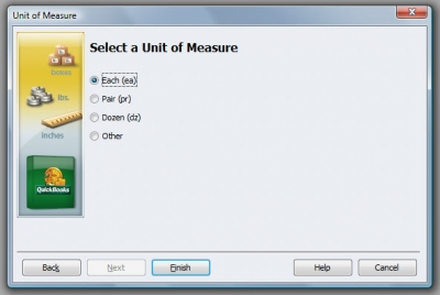 QuickBooks Premier 2009 Unit of Measure Wizard 2 Select