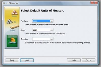 QuickBooks Premier 2009 Unit of Measure Wizard 4