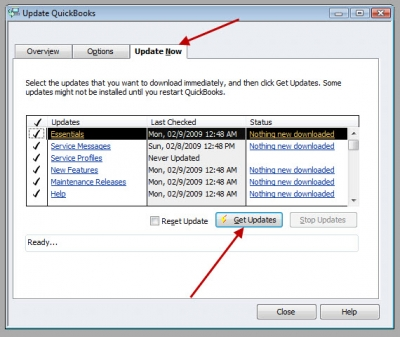 QuickBooks Premier 2009 Update Now