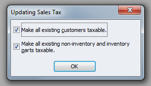 QuickBooks Premier 2009 Updating Sales Tax