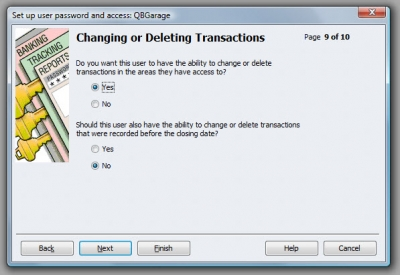 QuickBooks Premier 2009 User Access Change