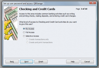 QuickBooks Premier 2009 User Access Checking