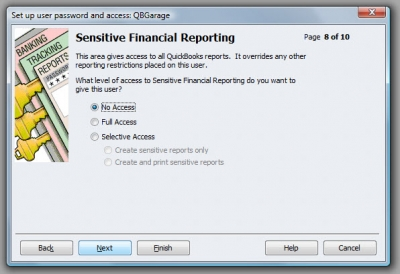 QuickBooks Premier 2009 User Access Financial Reporting