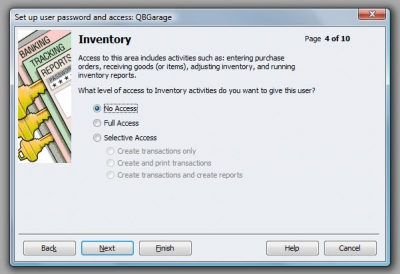 QuickBooks Premier 2009 User Access Inventory