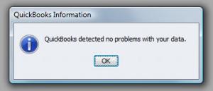 QuickBooks Premier 2009 Verify Utility Success