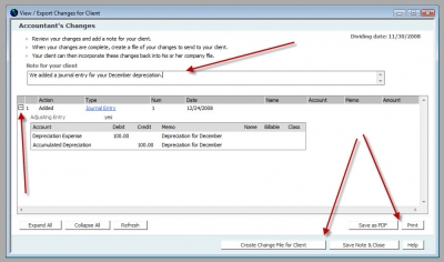 QuickBooks Accountants Copy Accountant's Changes