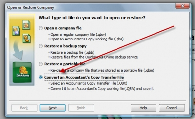 QuickBooks Accountants Copy Convert QBX