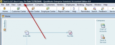 QuickBooks Accountants Copy QBA In Use