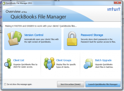 QuickBooks 2011 File Manager Overview