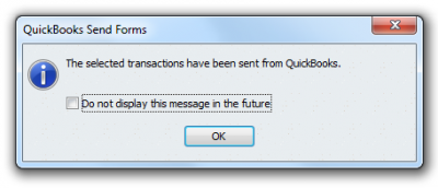 QuickBooks 2011 Send Forms Complete
