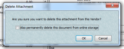 QuickBooks Attached Documents Delete Attachment
