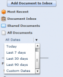 QuickBooks Attached Documents Date Filter