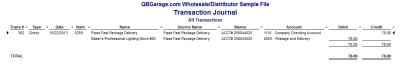 QuickBooks Enterprise Solutions 10 Check Transaction Journal