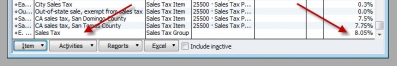 QuickBooks Premier 2008 Sales Tax Group No Display Bug