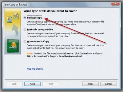 QuickBooks Premier 2009 Backup