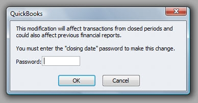 QuickBooks Premier 2009 Closing Date Password