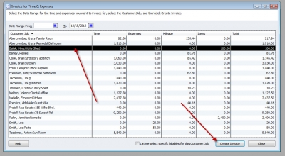 QuickBooks Premier 2009 Invoice for Time & Expenses 1