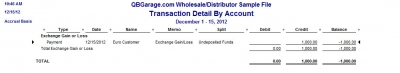 QuickBooks Premier 2009 Multicurrency Home Currency Adjustment Realized