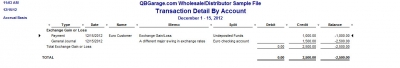 QuickBooks Premier 2009 Multicurrency Home Currency Adjustment Report