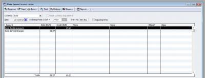 QuickBooks Premier 2009 Multicurrency Make General Journal Entry
