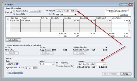 QuickBooks Premier 2009 Multicurrency Pay Bills